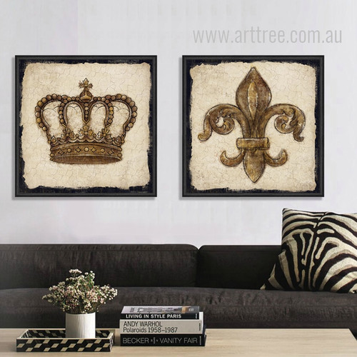 Crown Lily Logo Vintage Prints