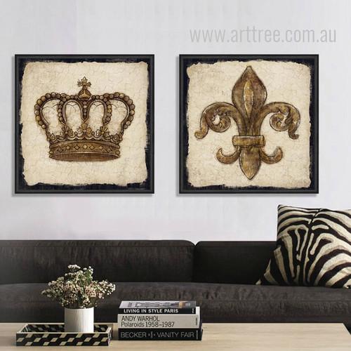 Crown Lily Logo Vintage Prints