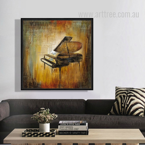 Retro Vintage Piano Musical Instrument Design Canvas Art