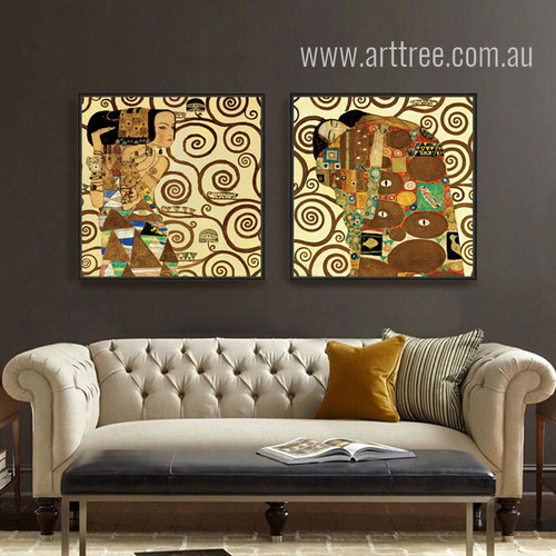 Artist Gustav Klimt Fulfilment Painting Prints
