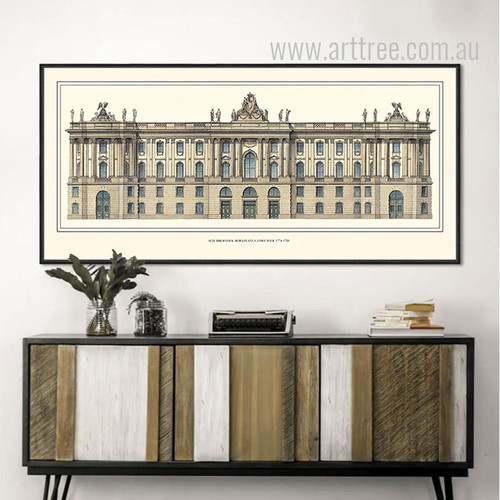 Retro Vintage  Rome Italy Trevi Fountain Large Canvas