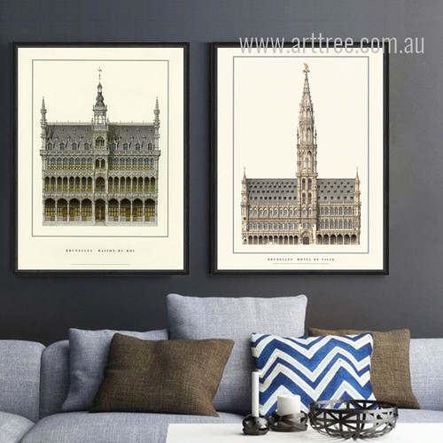Museum of the City of Brussels, Town Hall in Belgium Canvas Art