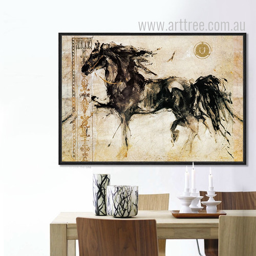 Retro Style Horse Animal Art