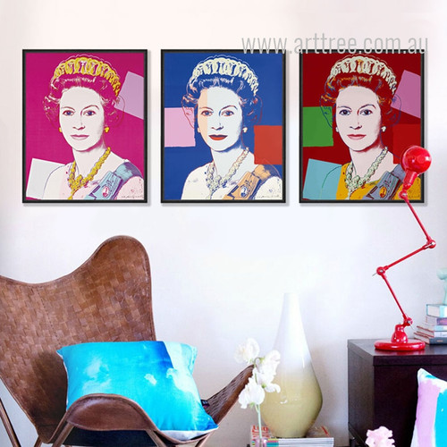 Andy Warhol Queen Elizabeth II Digital Art
