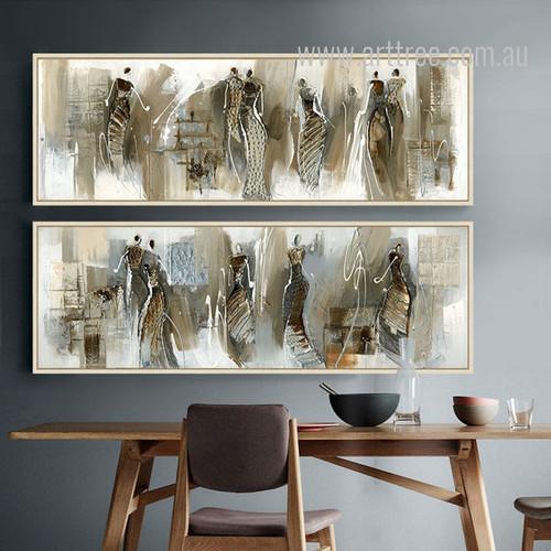 Abstract African Women Design Oversized Canvas Art