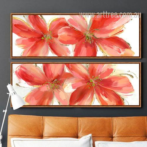 Botanical Red Floral Oversized Canvas Prints