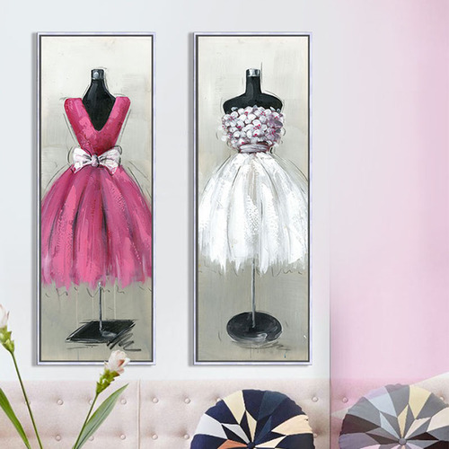 Modern Fashion Women Wedding Dress Hanging Style Canvas Prints