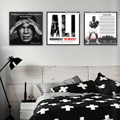 Muhammad Ali The Greatest Boxer 3 Piece Wall Art