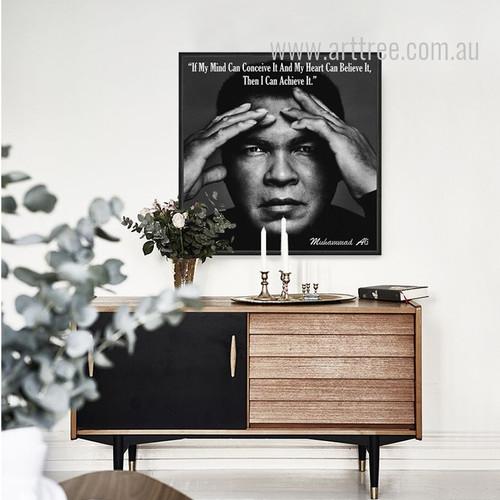 Muhammad Ali The Greatest Quote Print
