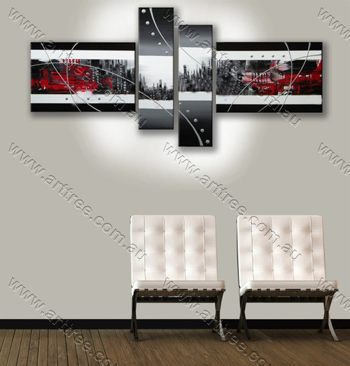 split wall painting White Stripe & Dot Pattern