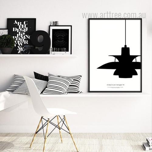 Ph Lamp by Poul Henningsen Retro Design Canvas Art