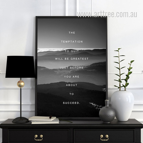 Tempatation Motivational Quote Art Print
