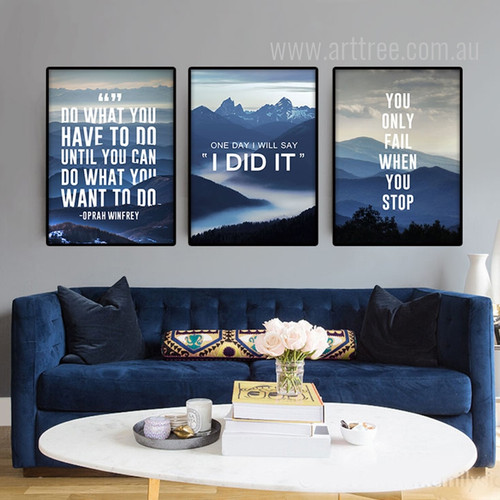 Do What You  Want, I Did It, You Only Fail Motivational Quotes Art Set