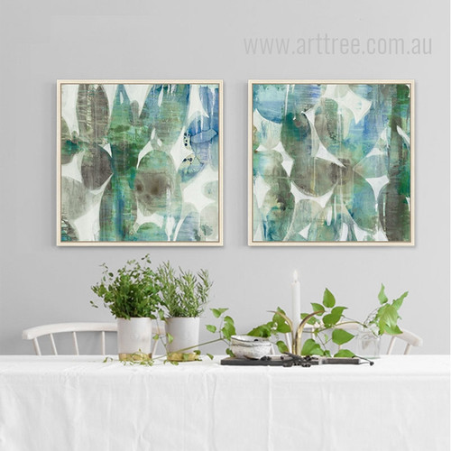 Abstract Botanical 2 piece Wall Art Set