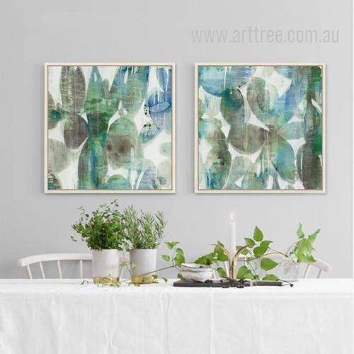 Abstract Botanical 2 piece Wall Art Set