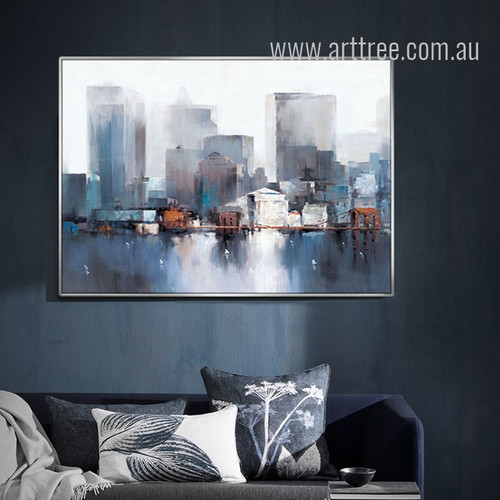 Modern Abstract NewYork Cityscape Painting Print