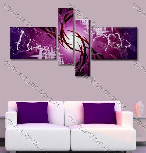 split panel painting Purple Streaks