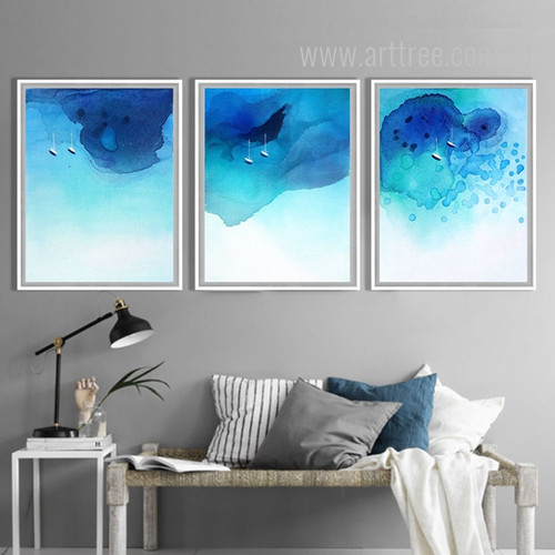 Blue Ocean Watercolor Art Set