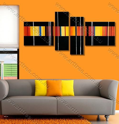 split panel painting Multiple Lines
