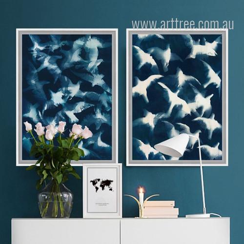 Abstract Watercolor Pigeon Bird Canvas Art