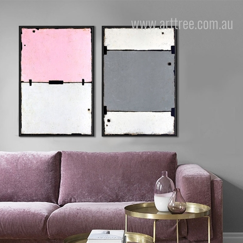 Geometric Design Color Partition Wall Art Set