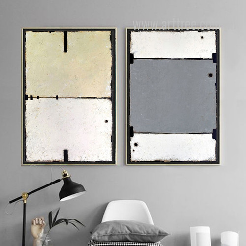 Geometric Color Partition Wall Art Set