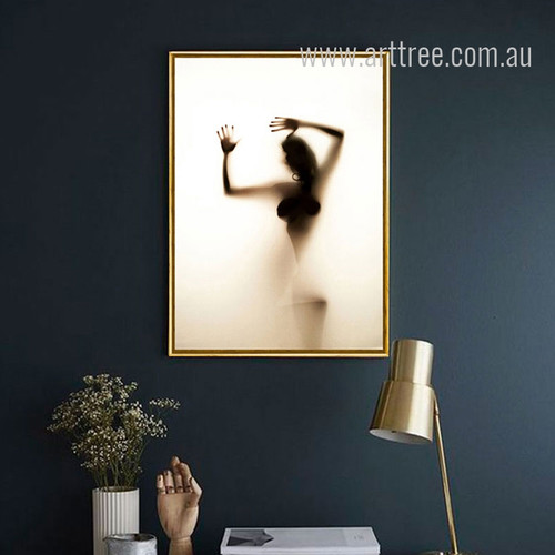 Naked Girl Shadow Design Canvas Print