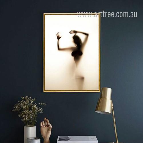 Naked Girl Shadow Design Canvas Print