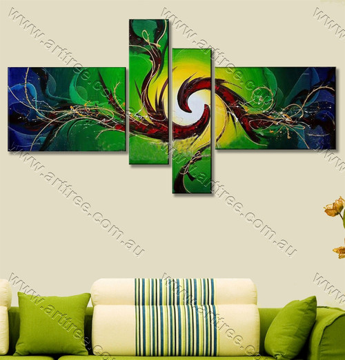 modern oil painting Kongfu Pattern