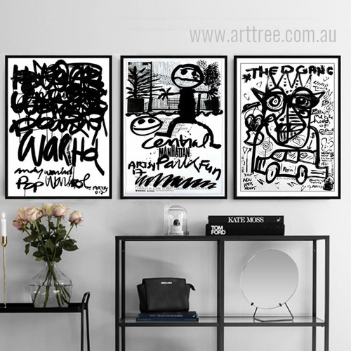The Gang Central Park Letters Cartoon 3 Piece Wall Art Set
