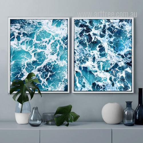 Blue Ocean Seascape Painting Prints