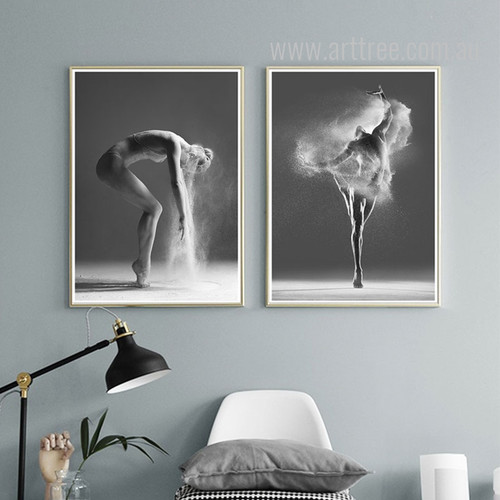 Modern Girl Dancing Steps Photography Style Canvas Prints
