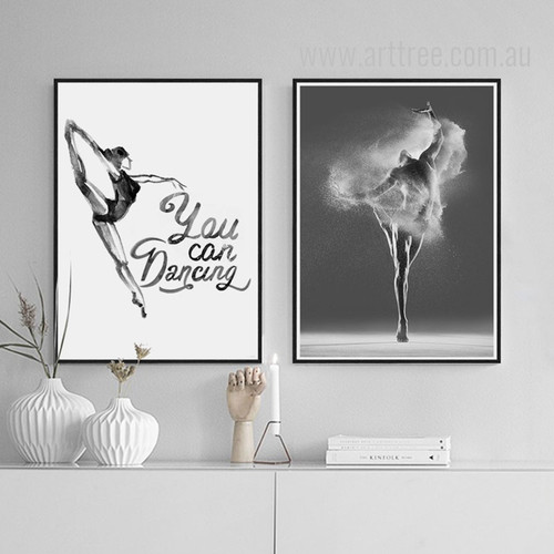 Modern Dance Steps Design You Can Dancing Quote Art