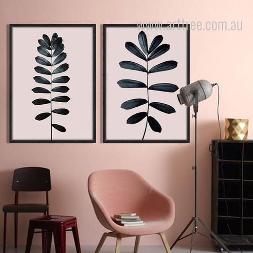 Modern Palm Leaf Print Home Decor Set