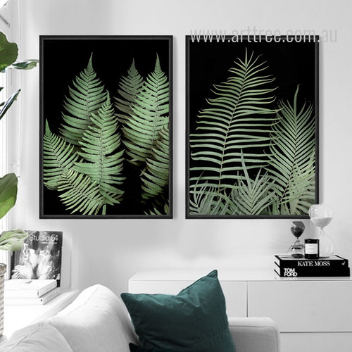 Modern Fern Plant Life Green Botanical Prints