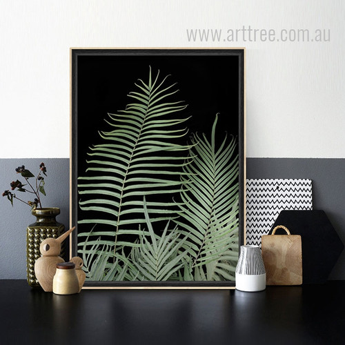 Green Fern Plant Canvas Wall Art