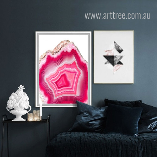 Pink Abstract Gems Canvas Print