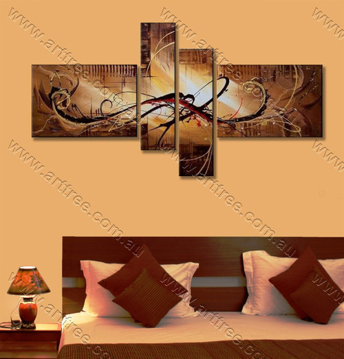 modern abstract art Brown Base