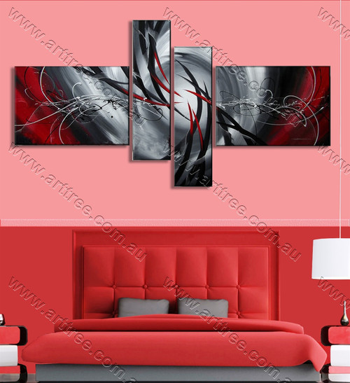 multi panel canvas oil painting Grey Base
