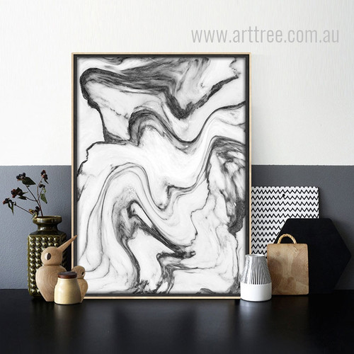 Black Watercolor Pattern Marble Art