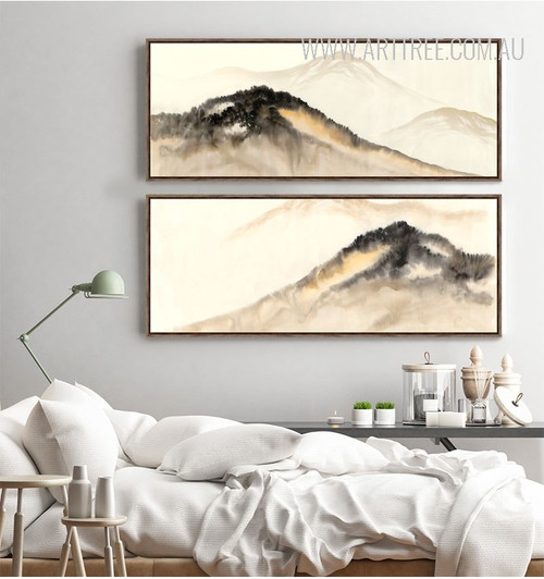 Abstract Mountain Range Canvas Prints