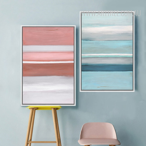 Modern Blue Pink Color Shot Canvas Prints