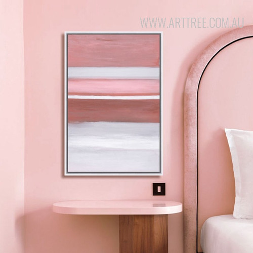 Modern Pink Color Shot Canvas Print