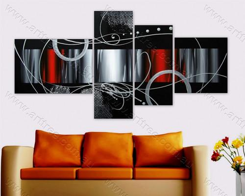home decor art Grey Semicircle Design