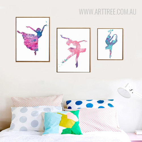 Ballet Dancing Girls Pictures Canvas Painting Prints