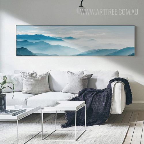 Blue Mountain Skyscape Long Wall Art