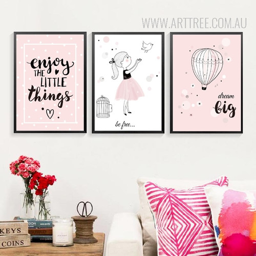 Little Dream Girl Design Kids Art