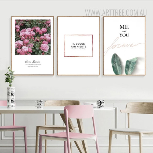 Secret Garden Roses You and Me Wall Art Set