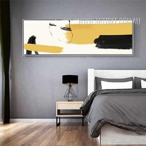 Panoramic Abstract Draw Canvas Print