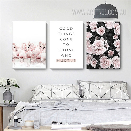 Flamingo Bird Good Things Comes Quote Azalea Bird Art